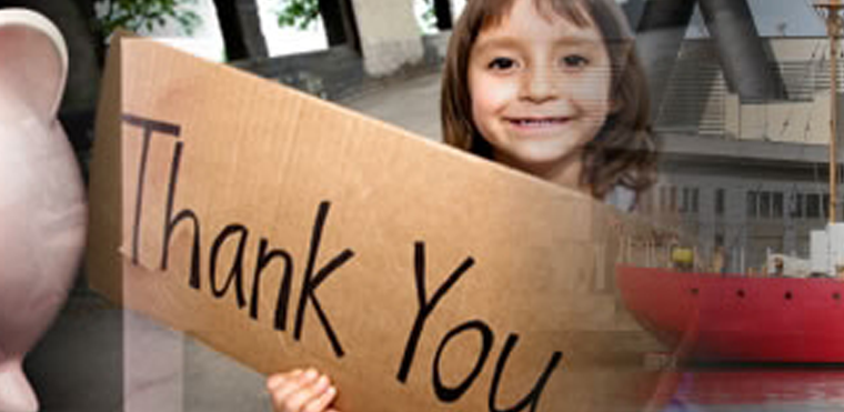 fingal insurance brokers non-profit insurance cover girl with thank you sign piggy savings bank